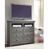 This item: Willow Distressed Dark Gray Media Chest