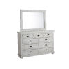 This item: Willow Gray Chalk Drawer Dresser with Mirror