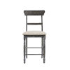 This item: Muses Weathered Pepper Ladder Back Counter Chair, Set of 2