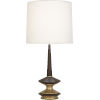 This item: Fletcher Warm Brass One-Light Table Lamp With Fondine Fabric Shade