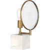 This item: Fineas Alabaster Stone Base and Aged Brass 15-Inch One-Light Table Lamp