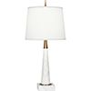 This item: Florence Warm Brass and White Marble 21-Inch One-Light Table Lamp