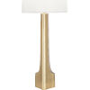 This item: Margeaux Modern Brass One-Light Table Lamp With White Oval Organza Shade