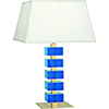 This item: Jonathan Adler Monaco Lacquered Natural Brass and Turquoise Crystal Blocks 26-Inch One-Light Table Lamp