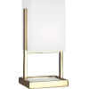 This item: Nikole Modern Brass and White Marble 13-Inch One-Light Table Lamp