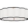 This item: Axis Aged Brass  24-Inch Four-Light Flushmount