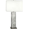 This item: Lloyd Blackened Nickel One-Light Table Lamp With Square Oyster Linen Shade