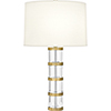 This item: Wyatt Clear Crystal and Modern Brass 29-Inch One-Light Table Lamp