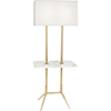 This item: Martin Modern Brass with Marble Tray 61-Inch Two-Light Floor Lamp