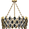 This item: Edward Modern Brass with Black Marble Accents 26-Inch Four-Light Chandelier