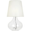 This item: June Clear Glass Body One-Light Table Lamp With White Organza Fabric Shade