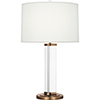 This item: Fineas Clear Glass and Aged Brass 29-Inch One-Light Table Lamp