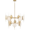 This item: Jace Modern Brass 12-Light Chandelier With White Alabaster Disc