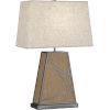 This item: Michael Berman Bond Driftwood Oak Wood One-Light Table Lamp