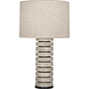 This item: Michael Berman Berkley Antique Oyster Glazed Ceramic with Walnut Wood and Deep Patina Bronze Accents 31-Inch One-Light Table Lamp