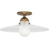 This item: Rico Espinet Arial Warm Brass One-Light Flushmount With White Glass