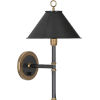 This item: Aaron Bronze One-Light Wall Sconce With Metal Shade