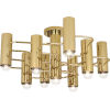 This item: Jonathan Adler Milano Polished Brass Nine-Light Flushmount