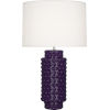 This item: Dolly Amethyst Glazed Textured Ceramic One-Light Table Lamp