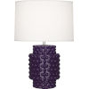 This item: Dolly Amethyst Glazed Textured Ceramic One-Light Accent Lamp