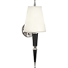 This item: Jonathan Adler Versailles Black Lacquered Paint with Polished Nickel Accents Two-Inch One-Light Wall Sconce
