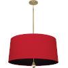 This item: Williamsburg Custis Modern Brass Three-Light Pendant