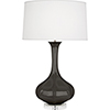 This item: Pike Coffee Glazed Ceramic with Lucite Base 33-Inch One-Light Table Lamp