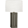 This item: Williamsburg Nottingham Carter Gray Glazed Ceramic with Modern Brass Accents 30-Inch One-Light Table Lamp