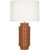 This item: Dolly Cinnamon Glazed Textured One-Light Table Lamp