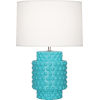 This item: Dolly Egg Blue Glazed One-Light Accent Lamp