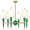 This item: Jonathan Adler Versailles Emerald Lacquered Paint with Modern Brass Accents 36-Inch Six-Light Chandelier