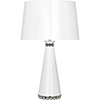 This item: Pearl Lily Lacquered Paint and Polished Nickel Accents 29-Inch One-Light Table Lamp