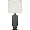 This item: Michael Berman Hadrian Matte Ash Glazed Ceramic with Deep Patina Bronze Accents 29-Inch One-Light Table Lamp