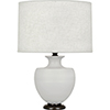 This item: Michael Berman Atlas Matte Dove Glazed Ceramic with Deep Patina Bronze Accents 25-Inch One-Light Table Lamp