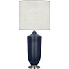 This item: Michael Berman Hadrian Matte Midnight Blue Glazed Ceramic with Dark Antique Nickel Accents 29-Inch One-Light Table Lamp