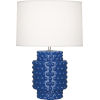 This item: Dolly Marine Blue Glazed Textured Ceramic One-Light Accent Lamp