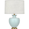 This item: Michael Berman Atlas Matte Sky Blue Glazed Ceramic with Modern Brass Accents 25-Inch One-Light Table Lamp