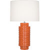 This item: Dolly Pumpkin Glazed Textured Ceramic One-Light Table Lamp