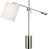 This item: Campbell white, silver One-Light Table Lamp