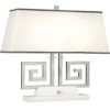 This item: Jonathan Adler Mykonos Polished Nickel Two-Light Table Lamp