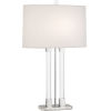 This item: Plexus Polished Nickel One-Light Table Lamp With Pearl Dupioni Fabric Shade