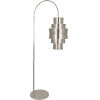 This item: Pierce Antique Silver Two-Light Floor Lamp With Metal Shade