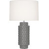 This item: Dolly Smoky Taupe Glazed Textured Ceramic One-Light Table Lamp