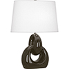 This item: Fusion Brown Tea Glazed Ceramic with Polished Nickel Accents 27-Inch One-Light Table Lamp