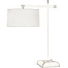 This item: Ranger Glossy White Painted Two-Light Table Lamp With Oyster Linen Fabric Shade