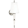 This item: Jonathan Adler Versailles Lily Lacquered Paint with Polished Nickel Accents Two-Inch One-Light Wall Sconce