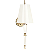 This item: Jonathan Adler Versailles Lily Lacquered Paint with Modern Brass Accents Two-Inch One-Light Wall Sconce