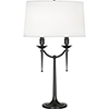 This item: Cedric Deep Patina Bronze 30-Inch Two-Light Table Lamp