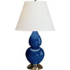 This item: Small Double Gourd Marine Blue One-Light Ceramic Table Lamp