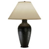 This item: Foundry Antique Rust One-Light Table Lamp with Flax Shade